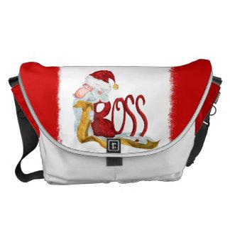 La bolsa de mensajero divertida del navidad de bolsas messenger