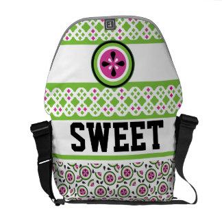 La bolsa de mensajero dulce de la sandía bolsas messenger
