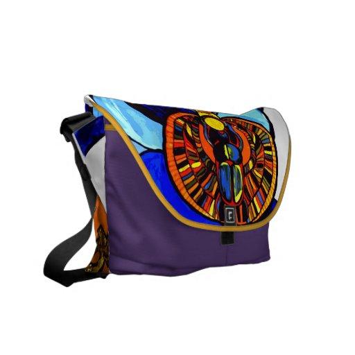 La bolsa de mensajero egipcia del escarabajo de Kh Bolsas Messenger
