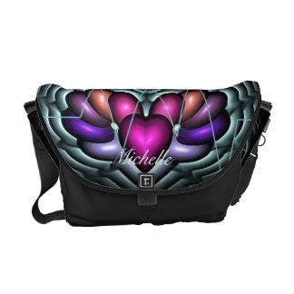 La bolsa de mensajero eléctrica del latido del cor bolsas de mensajeria