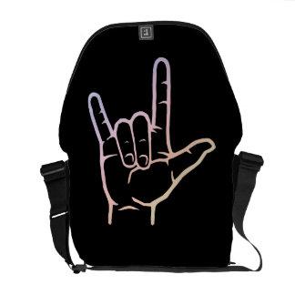 La bolsa de mensajero en colores pastel del ASL te Bolsa Messenger