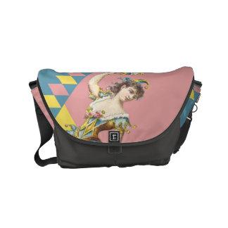 La bolsa de mensajero en colores pastel del bufón bolsa messenger