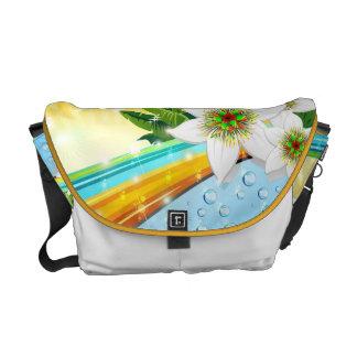 La bolsa de mensajero exótica tropical de las vaca bolsa de mensajería