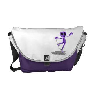 La bolsa de mensajero extranjera púrpura de la sno bolsas de mensajería