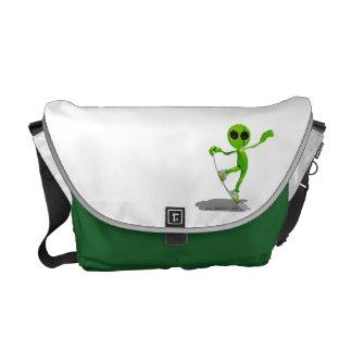 La bolsa de mensajero extranjera verde de la snowb bolsas de mensajería