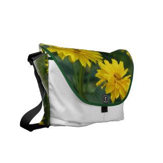 La bolsa de mensajero falsa amarilla de los giraso bolsa messenger