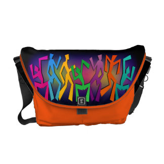 La bolsa de mensajero feliz de la danza bolsa de mensajería