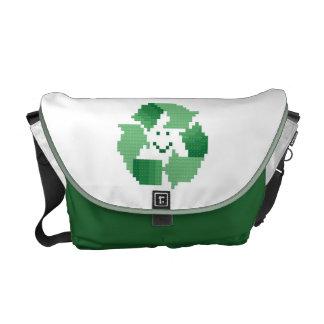 La bolsa de mensajero feliz del reciclador bolsa de mensajeria