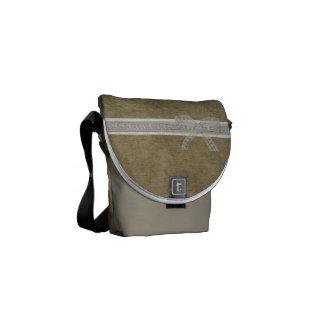 La bolsa de mensajero femenina rústica del cordón  bolsas messenger