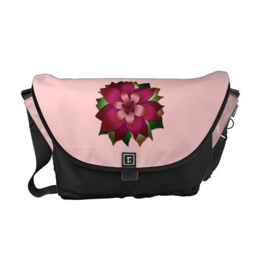 La bolsa de mensajero, flor de mariposa rosada lin bolsas de mensajeria