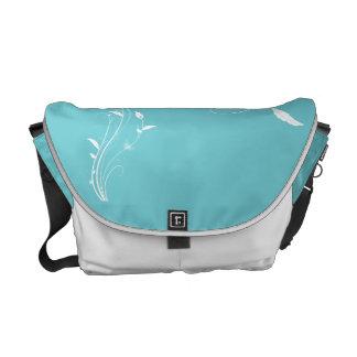 La bolsa de mensajero floral azul del huevo del pe bolsas de mensajería
