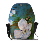 La bolsa de mensajero floral bolsas de mensajeria