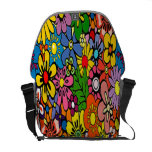 La bolsa de mensajero floral colorida asombrosa bolsas de mensajería