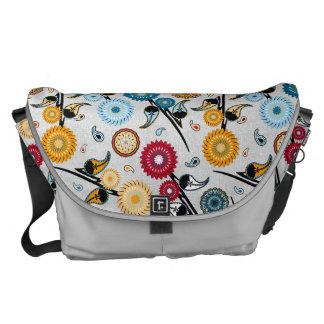 La bolsa de mensajero floral de Boho Bolsa De Mensajería