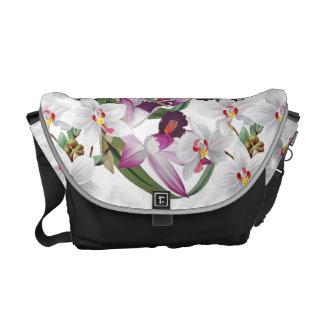 La bolsa de mensajero floral de la isla de la flor bolsa de mensajeria