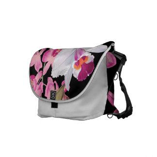 La bolsa de mensajero floral de la isla de la flor bolsa messenger