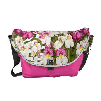 La bolsa de mensajero floral de la isla de la flor bolsas messenger