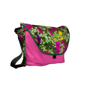 La bolsa de mensajero floral del carrito bolsas messenger