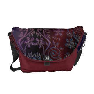 La bolsa de mensajero floral del carrito de la tap bolsas messenger