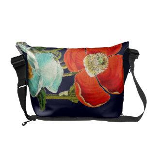 La bolsa de mensajero floral del carrito de las bolsas de mensajeria