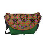 La bolsa de mensajero floral del carrito del estil bolsas de mensajeria