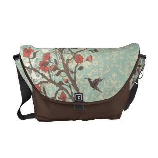 La bolsa de mensajero floral del carrito del pájar bolsas de mensajeria
