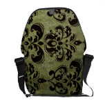 La bolsa de mensajero floral del Grunge del vintag Bolsas De Mensajeria
