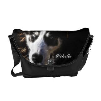 La bolsa de mensajero fornida del fractal del perr bolsa messenger