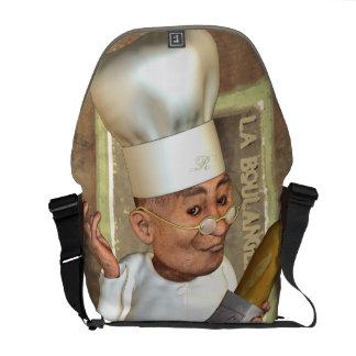 La bolsa de mensajero francesa del carrito de la p bolsas messenger