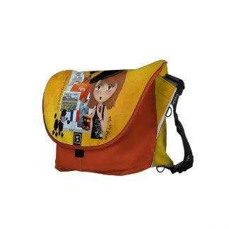 La bolsa de mensajero francesa del carrito del día bolsa messenger