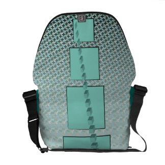 La bolsa de mensajero geométrica del carrito de lo bolsas de mensajería