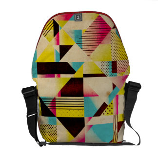 La bolsa de mensajero geométrica moderna enrrollad bolsa messenger