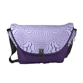 La bolsa de mensajero geométrica púrpura del carri bolsa de mensajeria