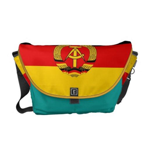 La bolsa de mensajero germanooriental de la bander bolsas de mensajería