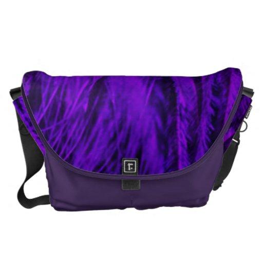 La bolsa de mensajero grande de la boa púrpura del bolsa de mensajería