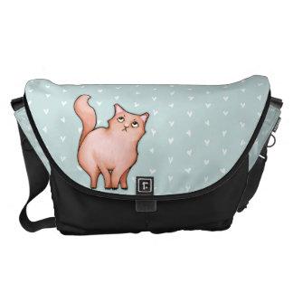 La bolsa de mensajero grande del gato de los coraz bolsas de mensajería