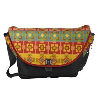 La bolsa de mensajero grande del modelo azteca bolsa de mensajería