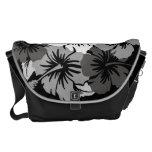 La bolsa de mensajero grande hawaiana del hibisco  bolsa de mensajeria