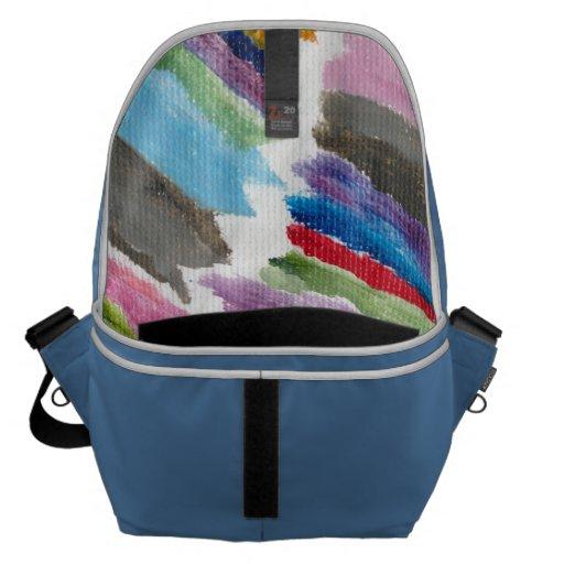 La bolsa de mensajero grande por colores felices bolsa de mensajeria