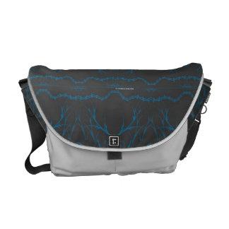 La bolsa de mensajero gris/azul bolsas messenger