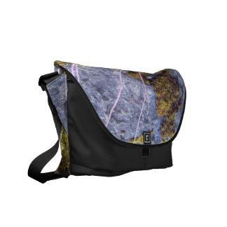 la bolsa de mensajero gris de plata del carrito de bolsas de mensajeria
