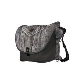 La bolsa de mensajero gris del ~ del dril de bolsa de mensajeria