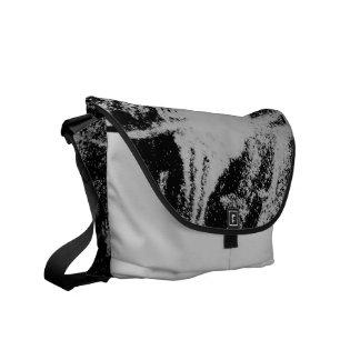 La bolsa de mensajero gris sucia de la pintura bolsas de mensajeria