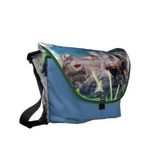 La bolsa de mensajero hambrienta del hipopótamo bolsas messenger
