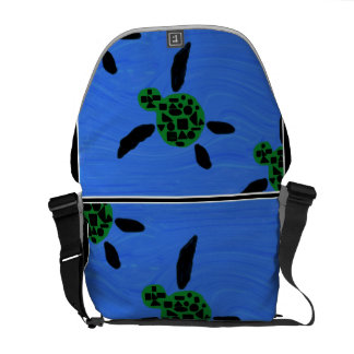La bolsa de mensajero hawaiana de la tortuga de ma bolsas de mensajería