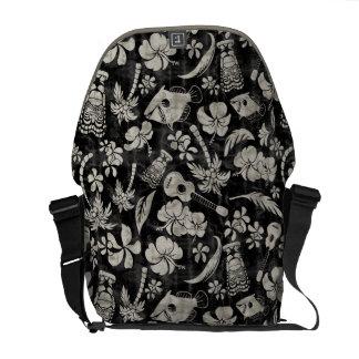La bolsa de mensajero hawaiana del batik de la pla bolsa de mensajeria