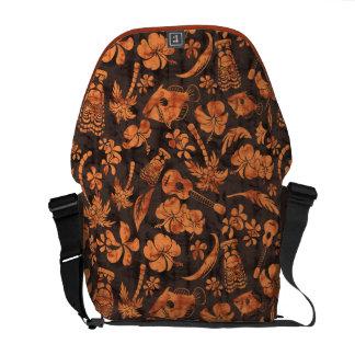 La bolsa de mensajero hawaiana del batik de la pla bolsas de mensajeria