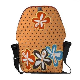 La bolsa de mensajero hawaiana del hibisco de bolsa de mensajeria