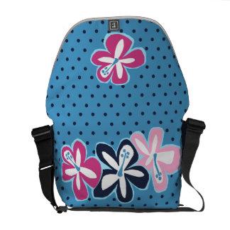 La bolsa de mensajero hawaiana del hibisco de bolsa de mensajería