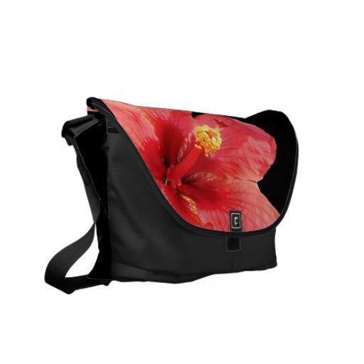 La bolsa de mensajero hawaiana del hibisco del est bolsa de mensajeria